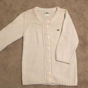 Cream Lacoste cardigan